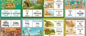 Предлоги в картинках для детей2