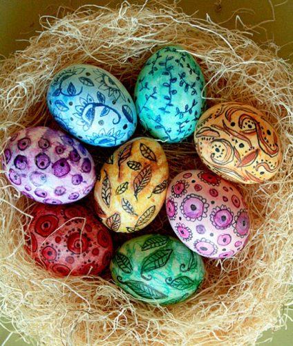 роспись пасхального яйца для детей2