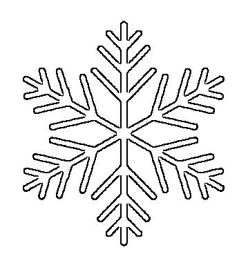 снежинки шаблон9