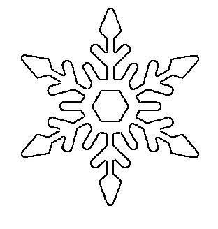 снежинки шаблон8