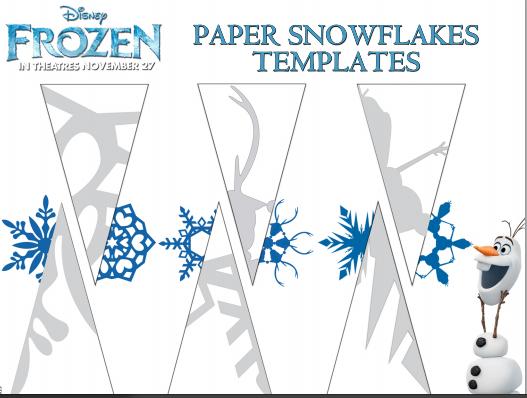 как сделать снежинку из бумаги эльза2