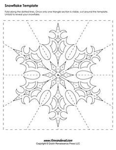 снежинки шаблон7