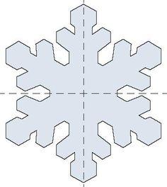 снежинки шаблон6