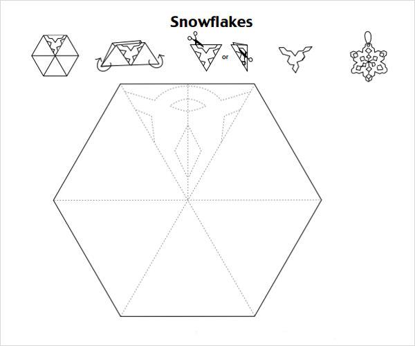 снежинки шаблон2