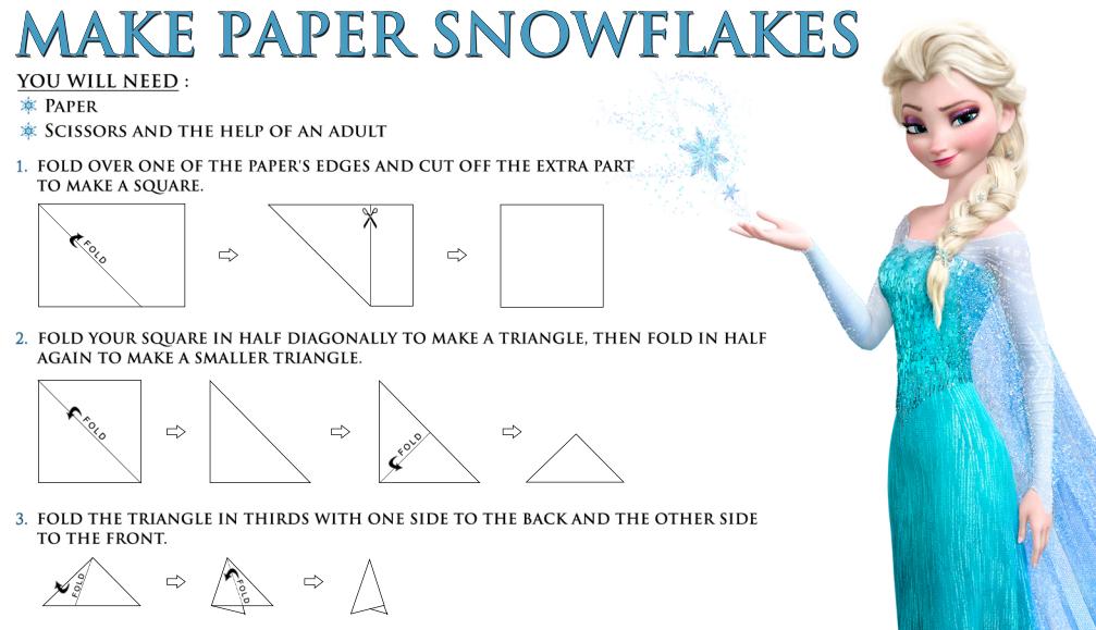 как сделать снежинку из бумаги эльза
