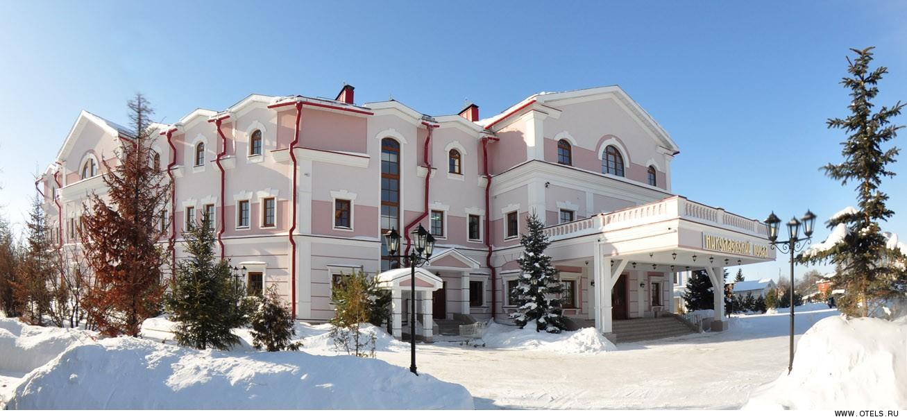 Николаевский посад зимой суздаль