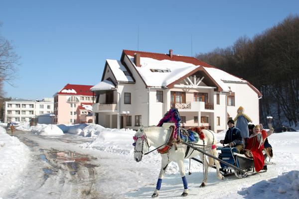 Свалява отель зимой