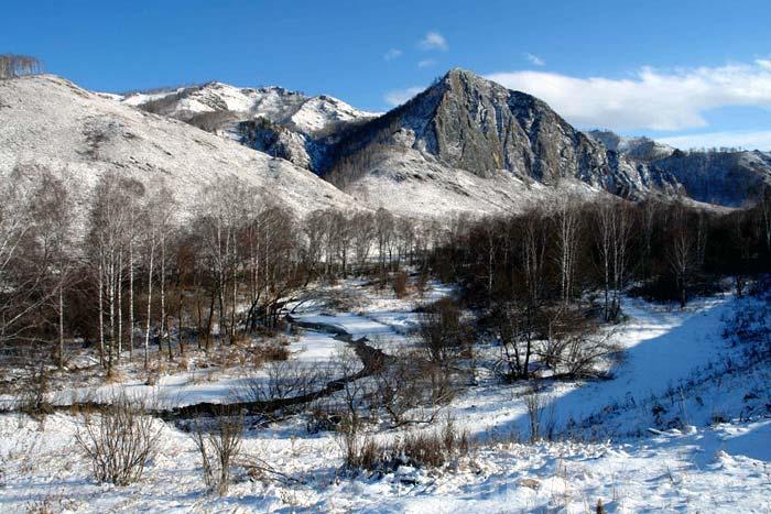 Алтай зимой природа1