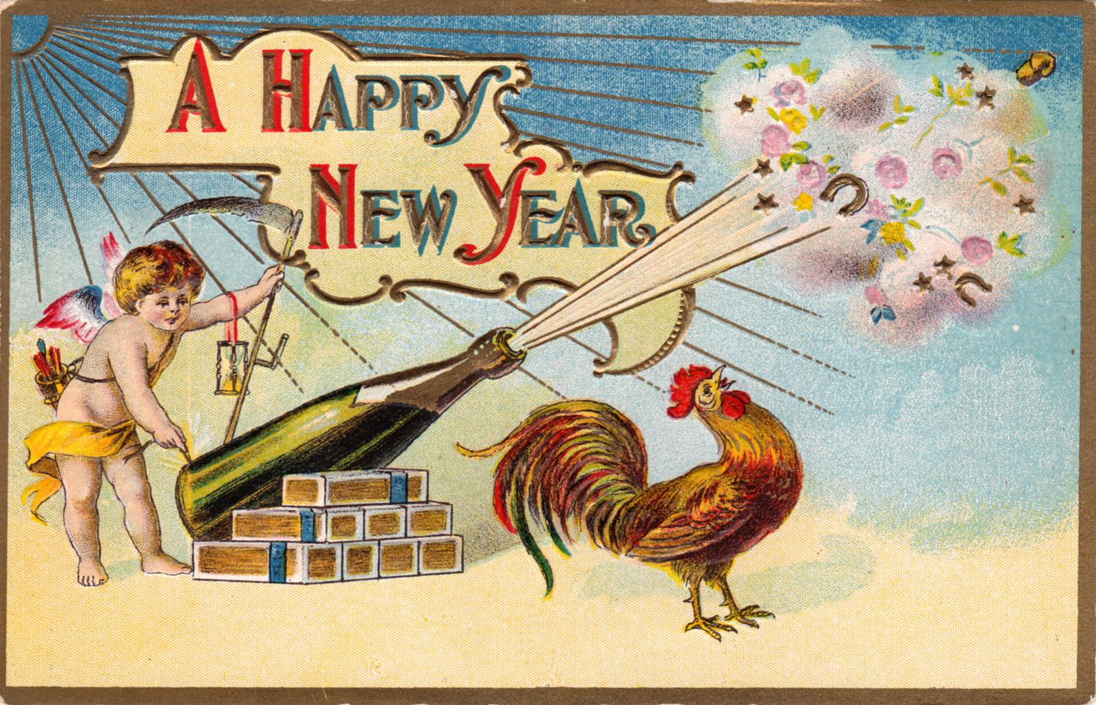 новогодний петух картинка