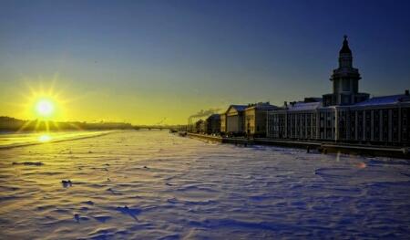 Санкт петербург зима достопримечательности