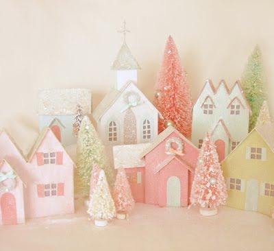новогодний домик из бумаги своими руками