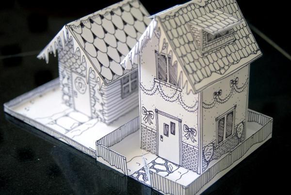 домик из бумаги своими руками