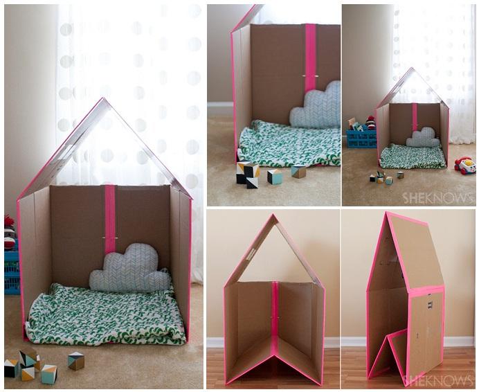 Дом для барби из коробок своими руками фото 153