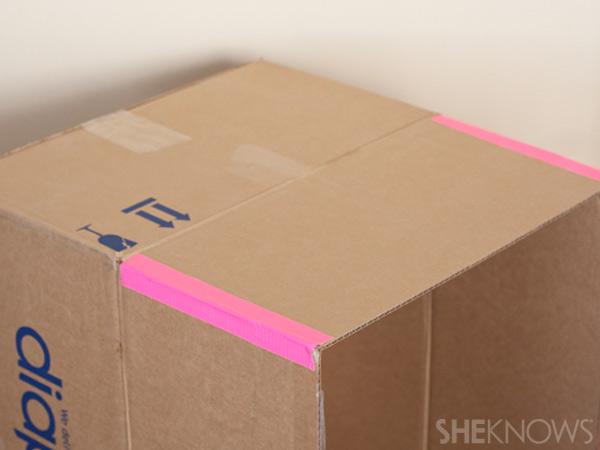 домик из картонной коробки для детей3