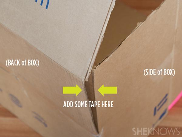 домик из картонной коробки для детей4