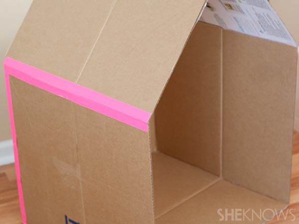 домик из картонной коробки для детей7