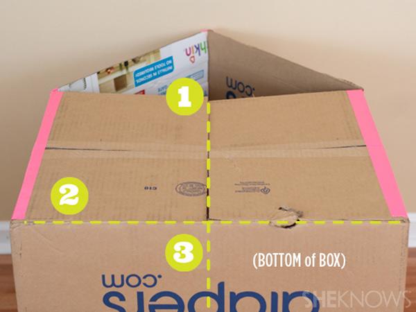 домик из картонной коробки для детей8