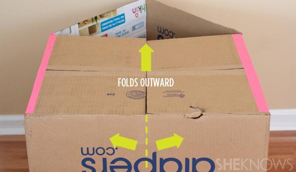 домик из картонной коробки для детей9