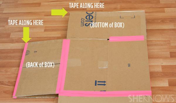 домик из картонной коробки для детей10