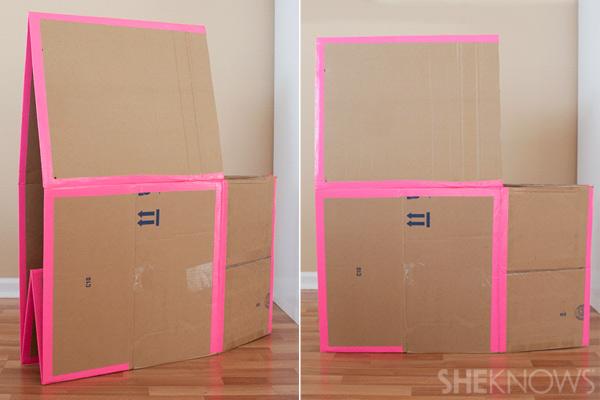 домик из картонных коробок